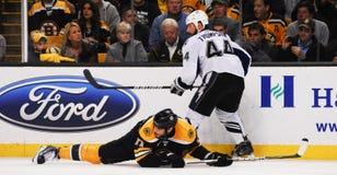 Milan Lucic Boston Bruins framåtriktat Fotografering för Bildbyråer