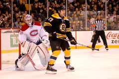 Milan Lucic and Carey Price (Bruins v. Canadiens) Royalty Free Stock Images