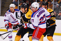 Milan Lucic and Ryan McDonagh Rangers v. Bruins Royalty Free Stock Photo
