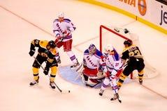 Milan Lucic v. Henrik Lundqvist (NHL Hockey) Stock Image