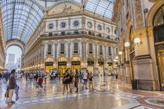 Milan Luxuous shopping mall Royalty Free Stock Image