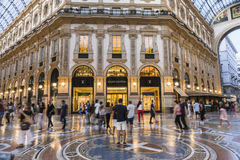 Milan Luxuous shopping mall Stock Image