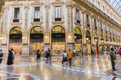 Milan Luxuous shopping mall Stock Images