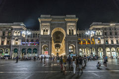 Milan Luxuous shopping mall Royalty Free Stock Images