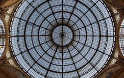 Milan Luxuous shopping mall Vittorio Emanuele Royalty Free Stock Photo