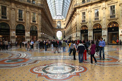 Milan luxury shopping Stock Photography