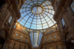 Milan luxury shopping mall Stock Photo