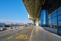Milan-Malpensa flygplats royaltyfria bilder