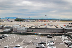 Milan Malpensa international airport Stock Photo