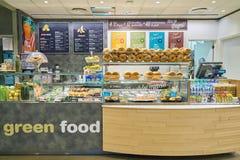 Food court. MILAN MALPENSA, ITALY - CIRCA NOVEMBER, 2017: a food court at Milan-Malpensa airport stock photos