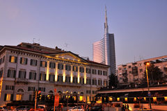 Milan -Meson Moschino Hotel and new skyscraper Royalty Free Stock Photo