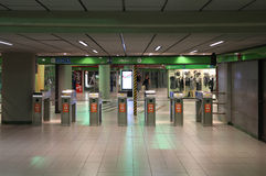 Milan metro Stock Photo