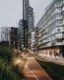 Modern palaces Milan. Milan metropoli modern Stock Photos