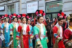 Milan, Milan, nouveau year'eve chinois Photos libres de droits