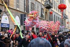 Milan, Milan, nouveau year'eve chinois Photo libre de droits