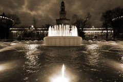 Milan,milano,castle square view Royalty Free Stock Photography