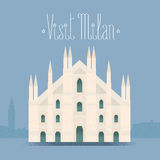 Milan, Milano cathedral vector illustration, design element, background Stock Photography