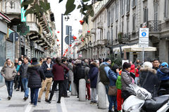 Milan,milano,chinese new year'eve Stock Images
