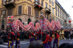 Milan,milano,chinese new year'eve Royalty Free Stock Photos