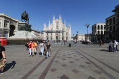Milan milano duomodomkyrkan Arkivbild