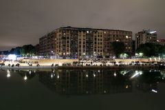 Milan,milano expo2015 night navigli district Royalty Free Stock Photos