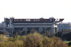 Milan,milano giuseppe meazza ac milan fc inter homebase view expo2015 Royalty Free Stock Photography
