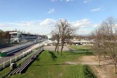 Milan,milano monza circuit starting straight Royalty Free Stock Photography