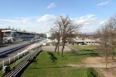 Milan,milano monza circuit starting straight Royalty Free Stock Photos