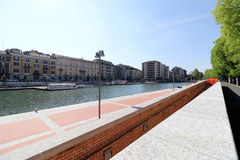 Milan,milano the navigli district Royalty Free Stock Photo