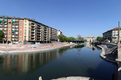 Milan,milano the navigli district Stock Photography