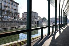 Milan,milano the navigli district Royalty Free Stock Photos