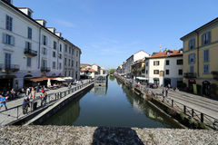 Milan milano navigliområdet Royaltyfria Foton