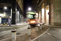 Milan,milano,the night tramway Royalty Free Stock Image
