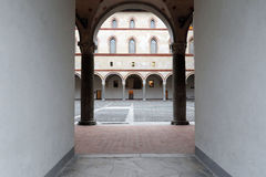 Milan,milano,the stroghold inside the castle Stock Photo