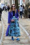 Clara Racz milano,milan women fashion week autumn winter 2015 2016 Stock Image