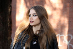 Milan,milano,xenia tchoumitcheva women fashion week autumn winter 2015 2016 Royalty Free Stock Photography