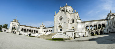 Milan monumental cemetery Royalty Free Stock Photography