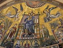 Milan - mosaïque en pierre d'église d'Ambrosius Photo stock