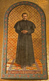 Milan - mosaic of holy Don Bosco Stock Photos