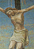 Milan - mosaic - Jesus on the cross Stock Images