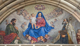 Milan - mosaic of virgin Mary - San Marco church Royalty Free Stock Images