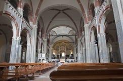 Milan - nave of Saint Ambrosius Stock Photo