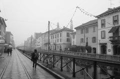Milan naviglio. Street of milan, neighborhood Naviglio Stock Photo