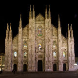 Milan in the night Royalty Free Stock Photo