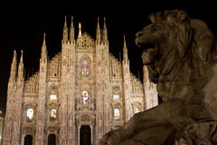 Milan in the night Royalty Free Stock Photography