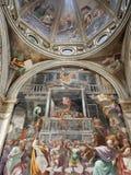 Milan - one cupola from Sant Mark church stock photo