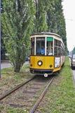 Milan Orange Cable Car Stock Photos