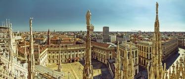 Milan Panorama - södra sida Arkivbild