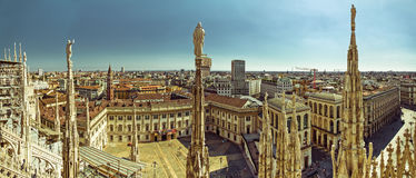 Milan Panorama - Zuidenkant Stock Fotografie