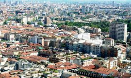 Milan, panoramic view Royalty Free Stock Image